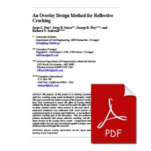 An Overlay Design Method for Reflective Cracking