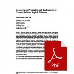 Research on Properties and Technology of Crumb Rubber Asphalt Mi