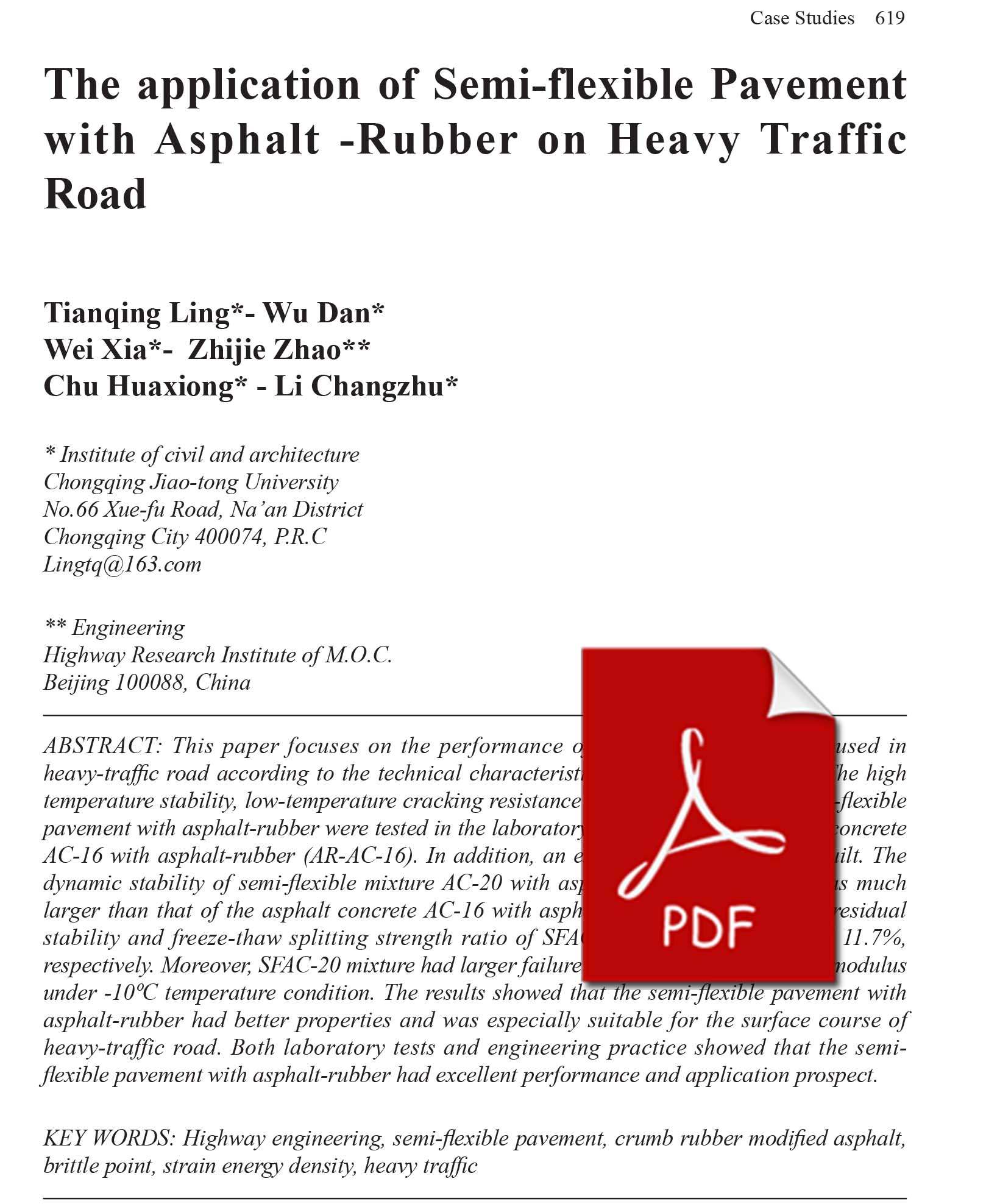 038 The Lication Of Semi Flexible Pavement With Asphalt