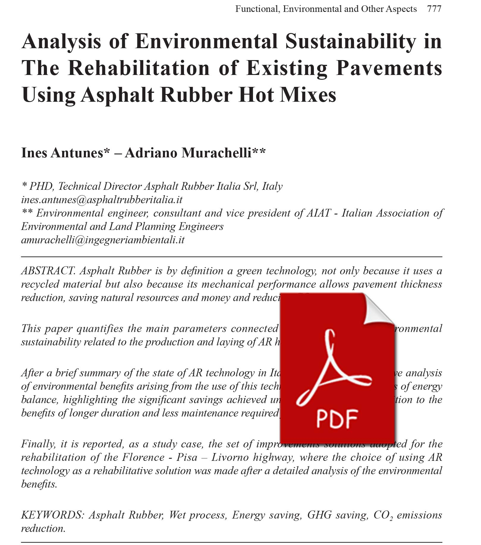 analysis of environmental sustainability in the rehabilitation of