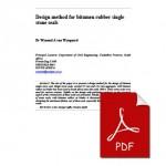 Design method for bitumen rubber single stone seals