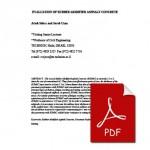 EVALUATION OF RUBBER MODIFIED ASPHALT CONCRETE