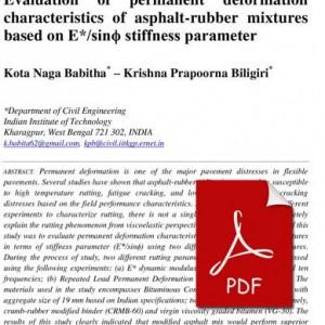 Evaluation_permanent_deformation_characteristics_asphalt-rubber_mixtures